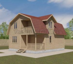 Дом из сухого профилированного бруса