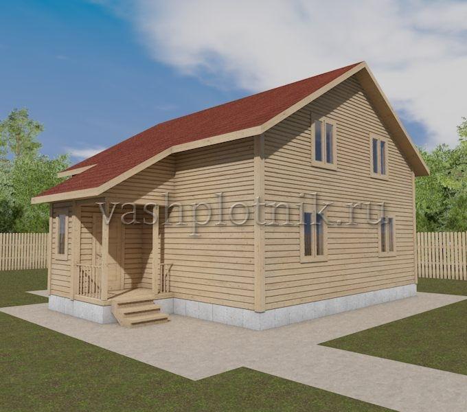проект дома из бруса 8х9