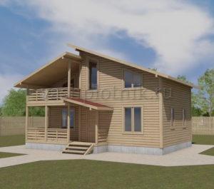 Проект дома из бруса 6 на 9