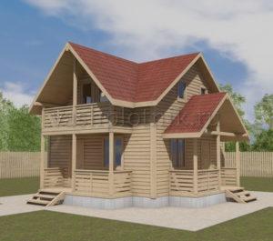 Брусовой дом для постоянного проживания