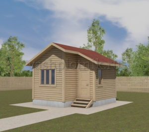 одноэтажный деревянный дом из бруса