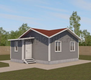 Каркасный дачный домик
