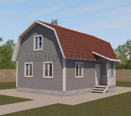 Проект двухэтажного дома 6 на 9