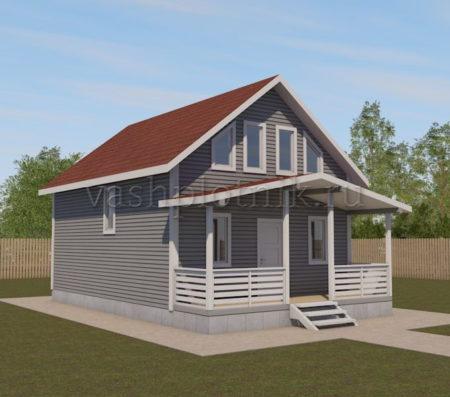 Проект каркасного дома 6х8