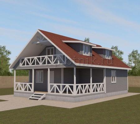 Проект дома 8 на 9