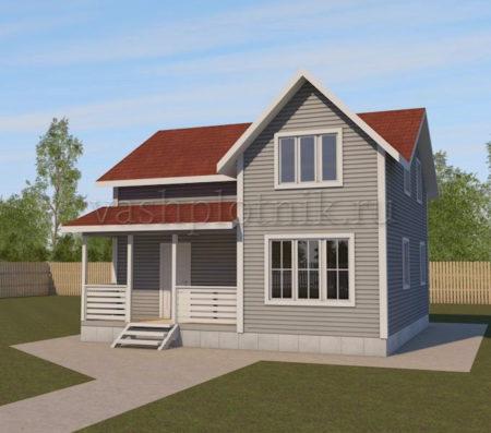 проект каркасного дома 8х8