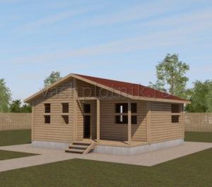 Проект одноэтажного сруба дома