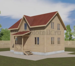 Проект дома из бруса 6 на 8