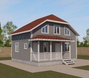 Проект дачного дома 6х8