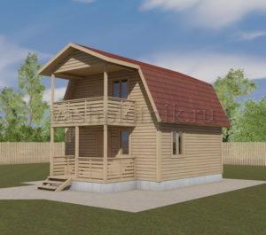 Проект дома из бруса 6х6